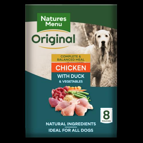Natures Menu Chicken & Duck Adult Dog Food Pouches 300g x 8