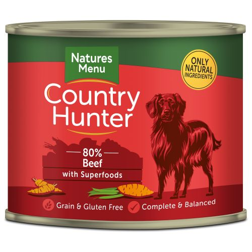 Natures Menu Country Hunter Beef Adult Dog Food Cans 600g x 24