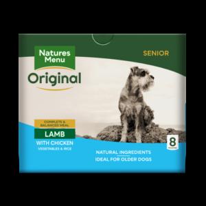 Natures Menu Lamb Vegetables & Rice Senior Dog Food Pouches 300g x 40