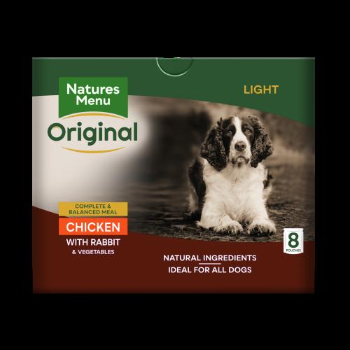 Natures Menu Light Chicken & Rabbit Adult Dog Food Pouches 300g x 40