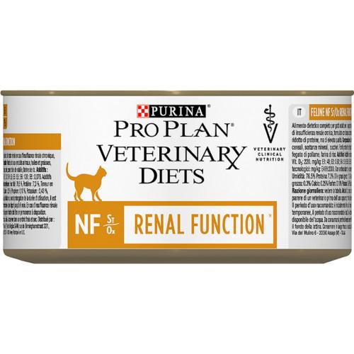 PURINA VETERINARY DIETS Feline NF Renal Function Cat Food 195g x 24 Tins