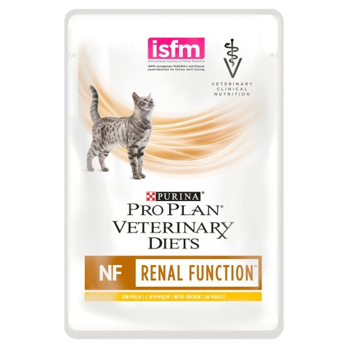 PURINA VETERINARY DIETS Feline NF Renal Function Cat Food 85g x 40 Pouches with Chicken