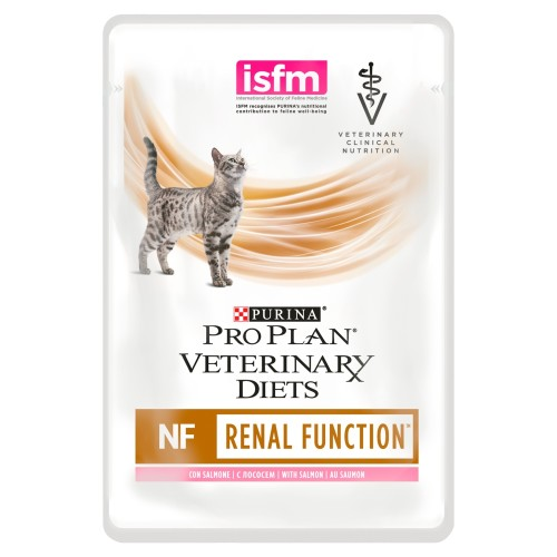 PURINA VETERINARY DIETS Feline NF Renal Function Cat Food 85g x 80 Pouches with Salmon