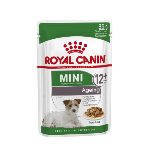 Royal Canin Mini Ageing Wet Senior Dog Food Pouches 12+ in Gravy 85g x 12