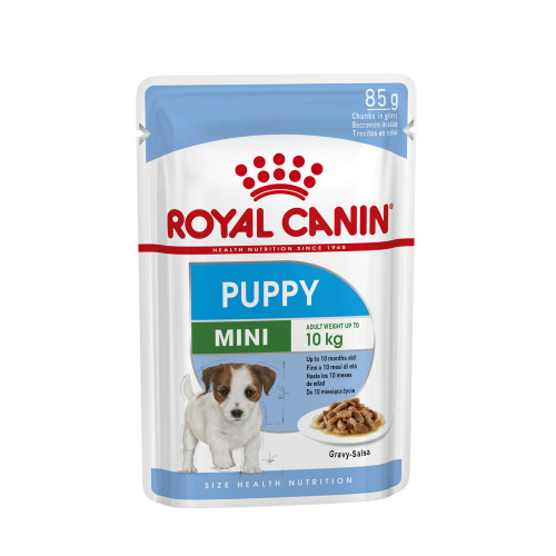 Royal Canin Mini Wet Puppy Food Pouches in Gravy 85g x 12
