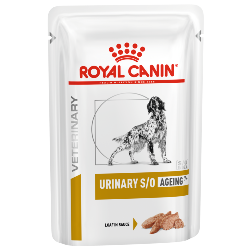 Royal Canin Veterinary Diets Urinary SO Ageing 7+ in Loaf Wet Dog Food 85g x 96