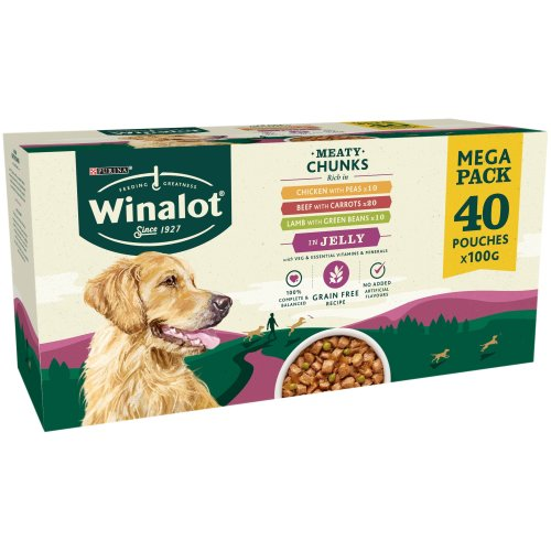 Winalot Multipack in Jelly Grain Free Wet Adult Dog Food 100g x 40