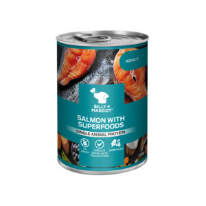 Billy & Margot Salmon with Superfoods Wet Adult Dog Food Tins 395g x 12
