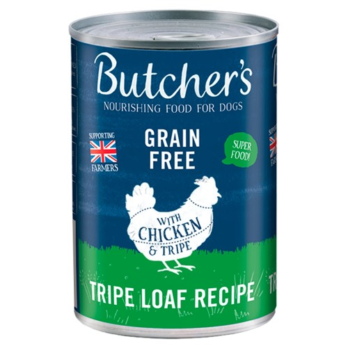 Butchers Tripe & Chicken Dog Food Tins 400g x 12