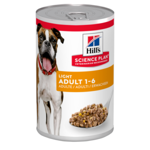 Hills Science Plan Adult Light Wet Dog Food Chicken Cans 370g x 12