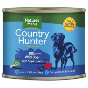 Natures Menu Country Hunter Wild Boar Adult Dog Food Cans 600g x 24