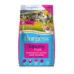 Burgess Supadog Chicken Greyhound & Lurcher Adult Dog Food 12.5kg x 2