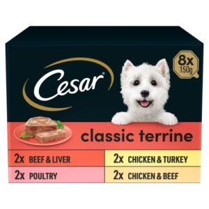 Cesar Trays Classics Selection Adult Dog Food 150g x 8