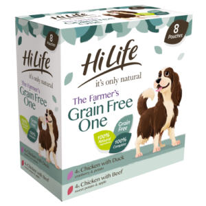 HiLife Its Only Natural Complete Grain Free Wet Adult Dog Food 150g x 8