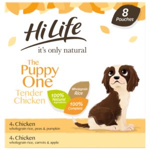 HiLife Its Only Natural Complete Puppy Wet Adult Dog Food 150g x 8