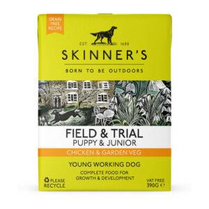 Skinners Field & Trial Chicken & Garden Veg Wet Puppy & Junior Food 390g x 72