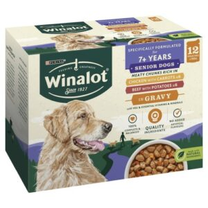 Winalot Meaty Chunks in Gravy Wet Adult Dog Food 100g x 48